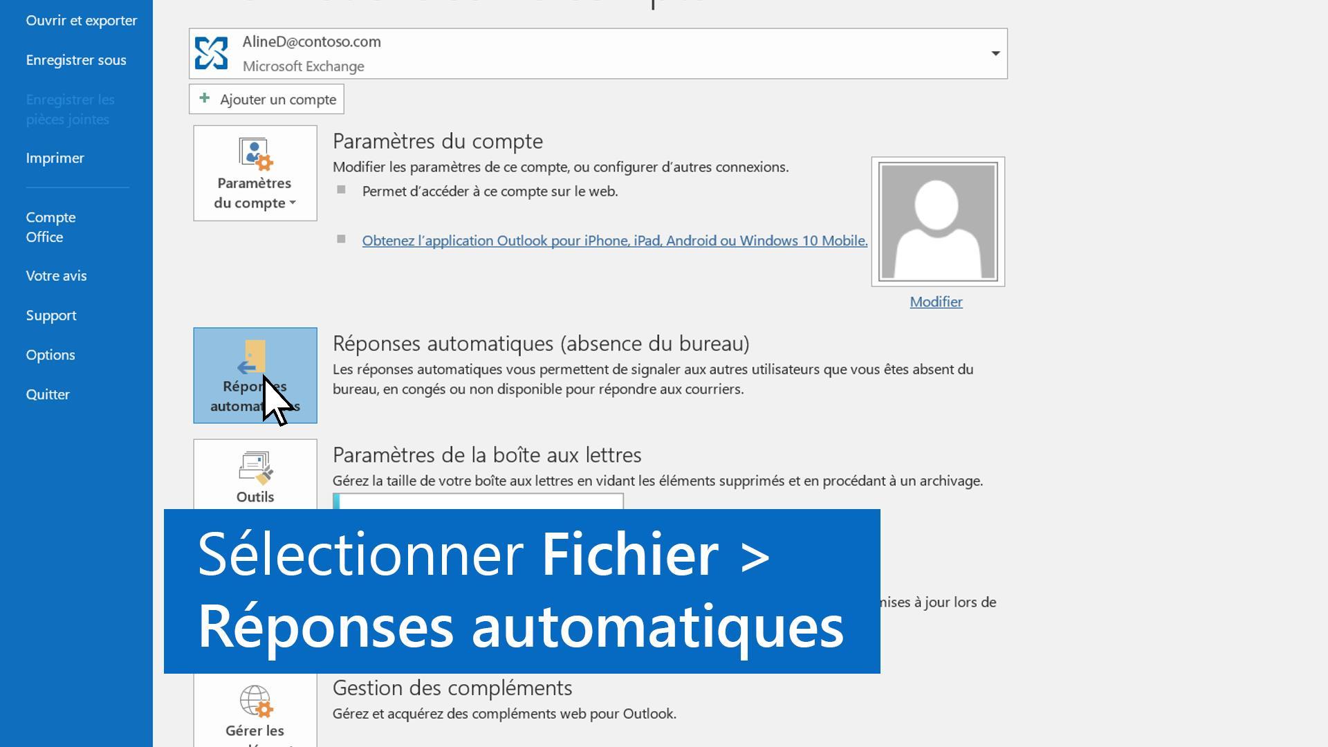 Video Configurer Une Reponse Automatique Outlook