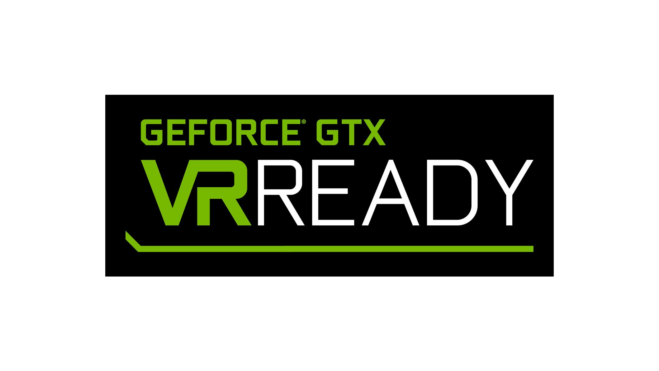 Logo GEFORCEGTX compatible avec la réalité virtuelle