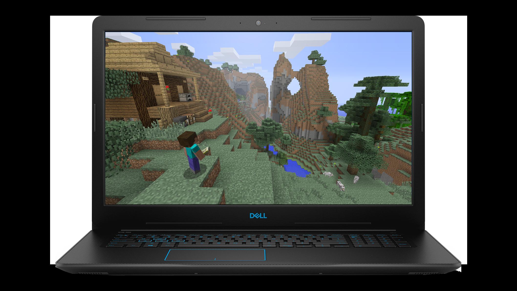 Vue avant de l'ordinateur portatif de jeu Dell Inspiron
