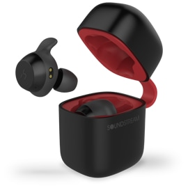 Epsilon Soundstream H2GO True Wireless Earbuds Black with Qi enabled charging