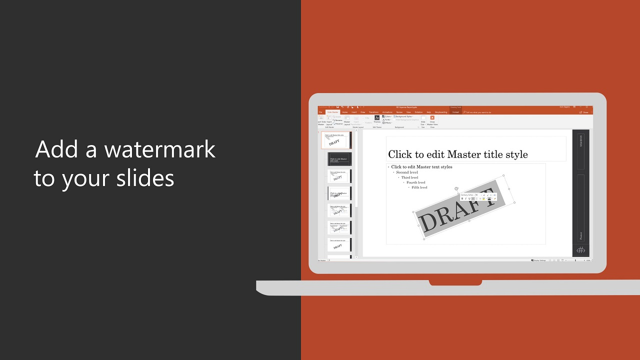Add A Watermark To Your Slides