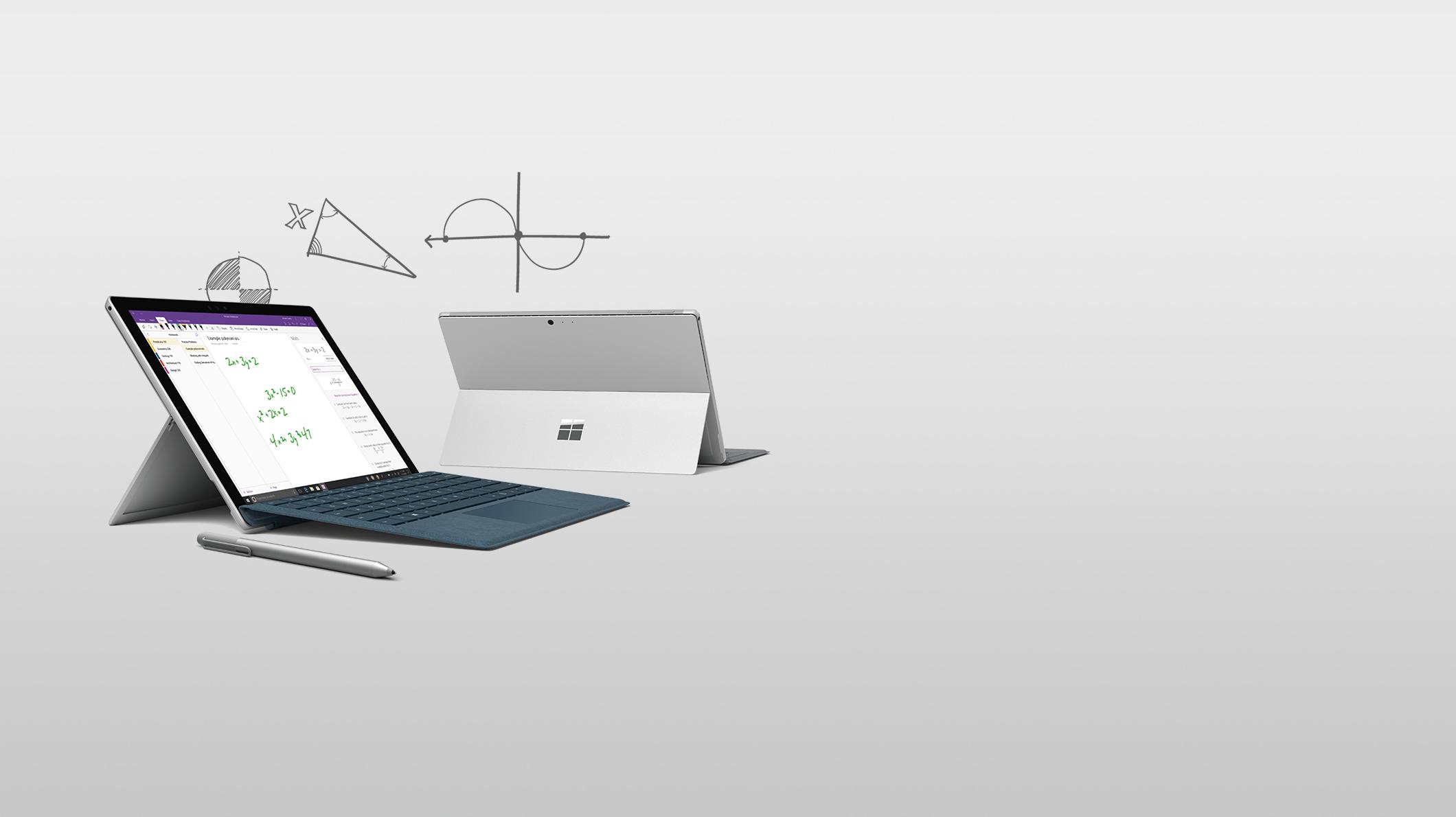 Surface Pro com capa teclado
