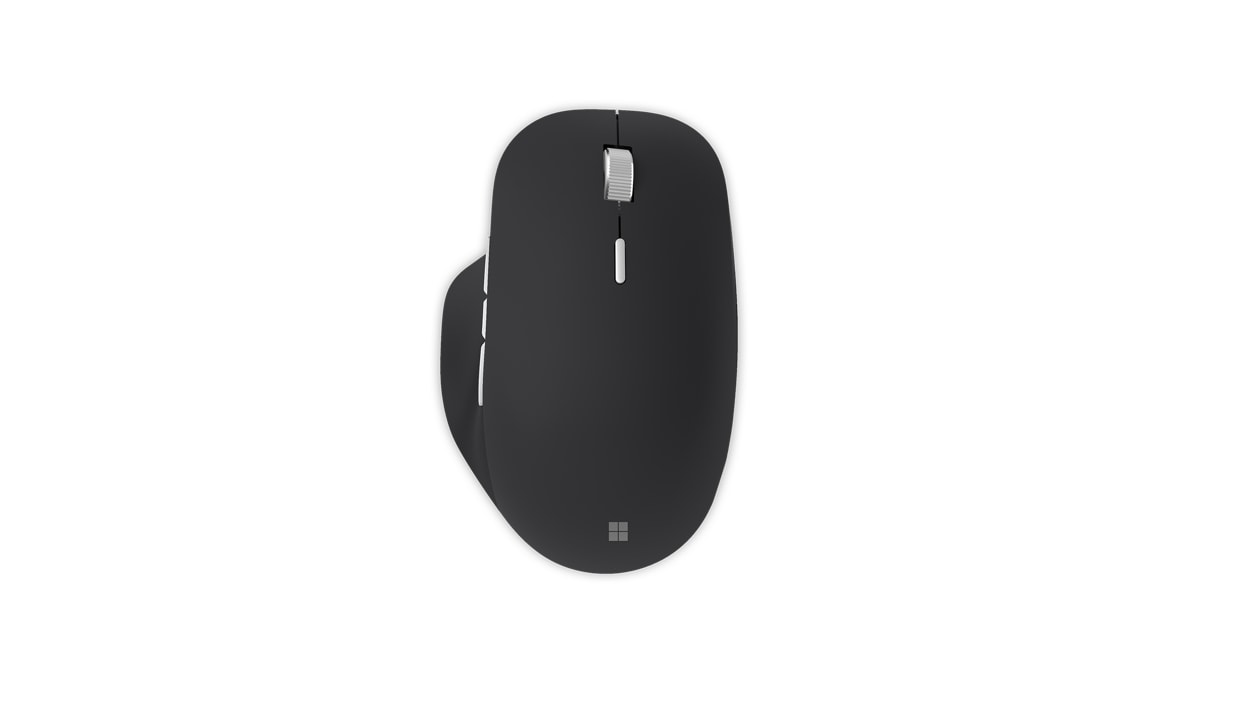 Birdseye view of the PCA Black Precision Mouse