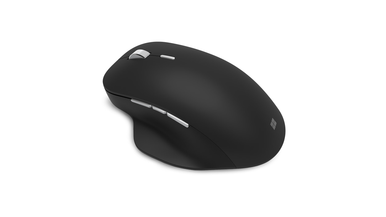 Left birdseye view of the PCA Black Precision Mouse