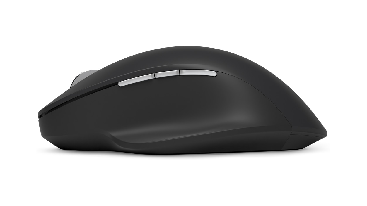 Left view of the PCA Black Precision Mouse
