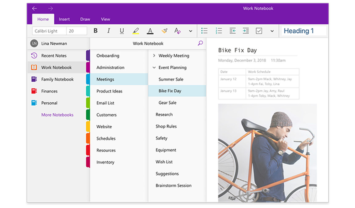 OneNote, digital note taking app - Office