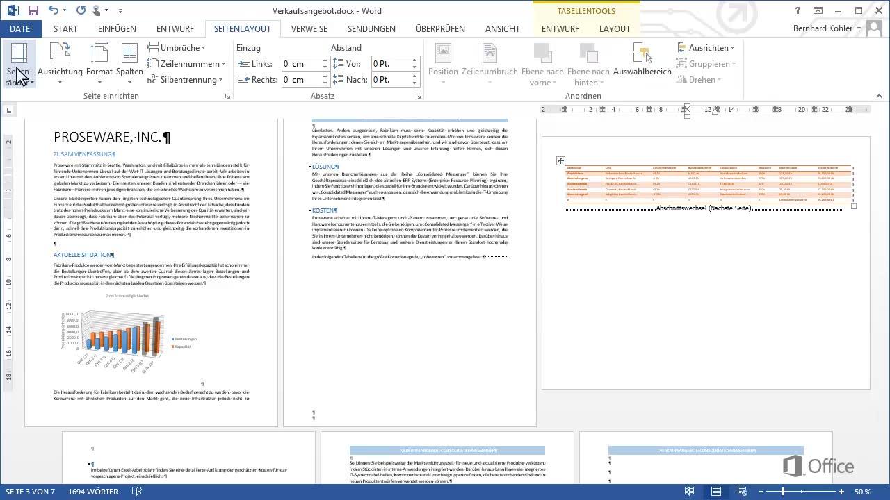 Video Verwenden Von Querformat Und Hochformat Im Selben Dokument Word