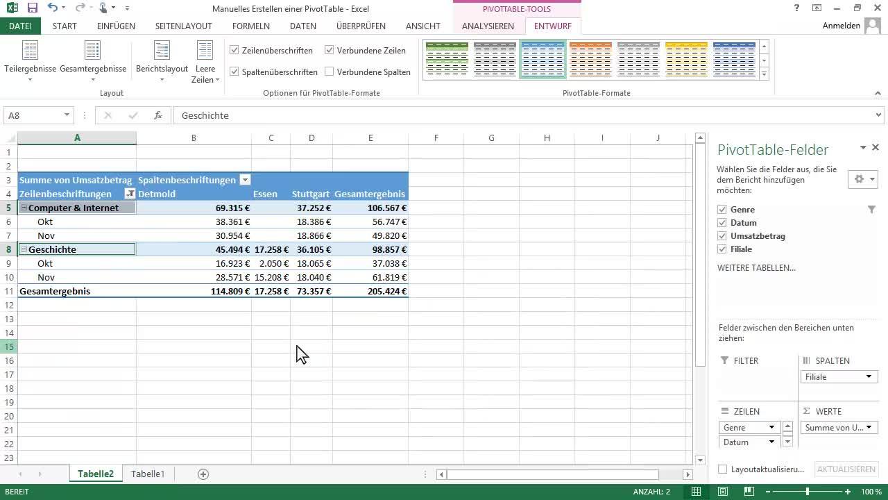 Video: Sortieren, Filtern, Zusammenfassen und Berechnen von ...