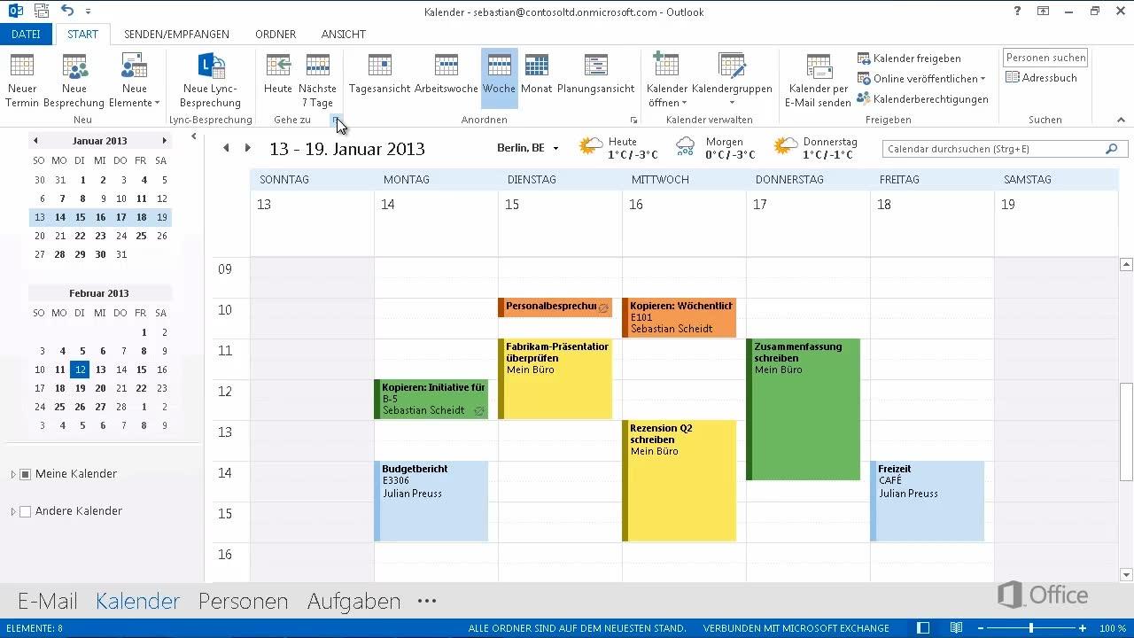 Video: Kalenderansichten - Outlook