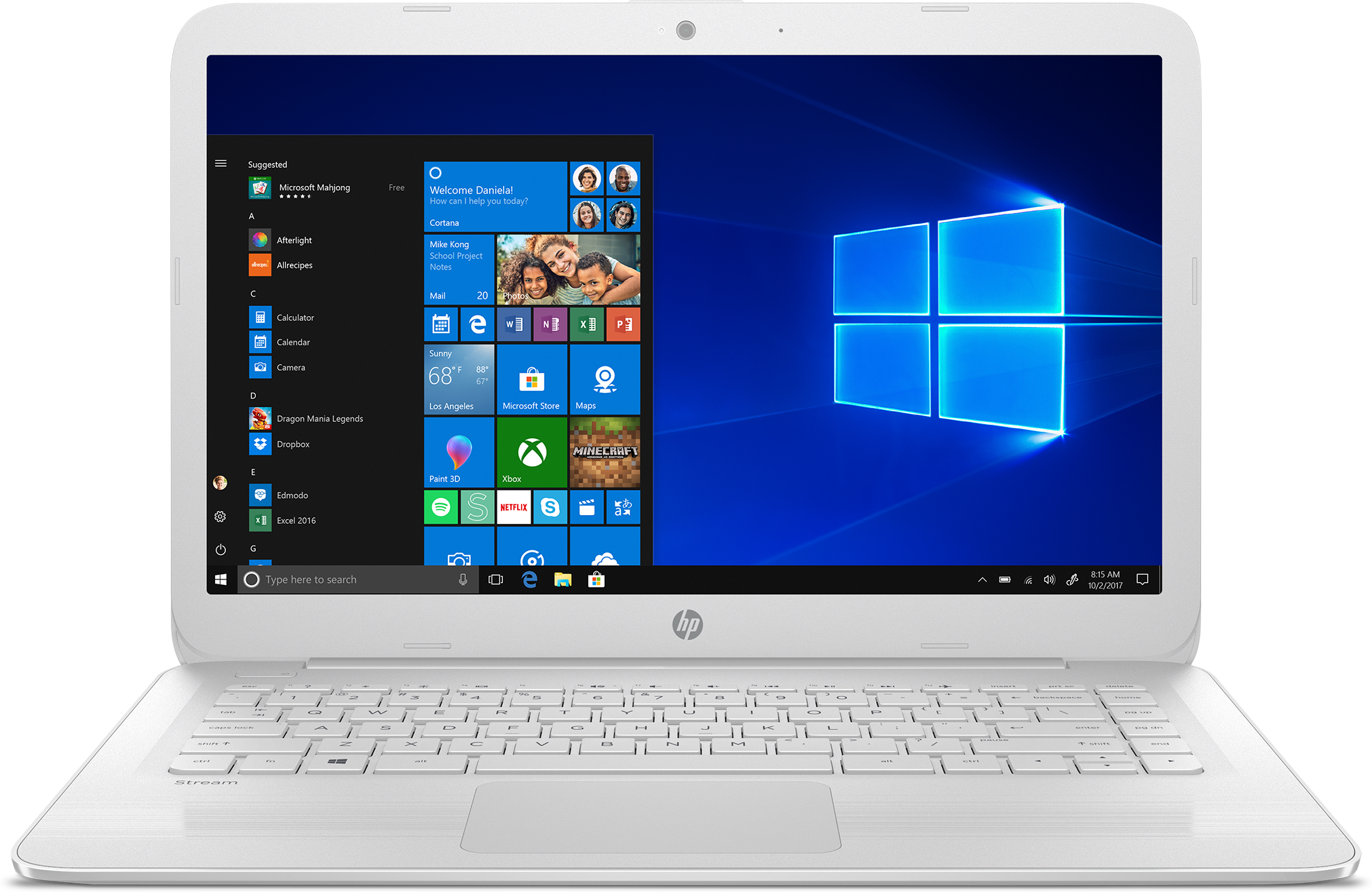 Front view of the HP Stream Laptop