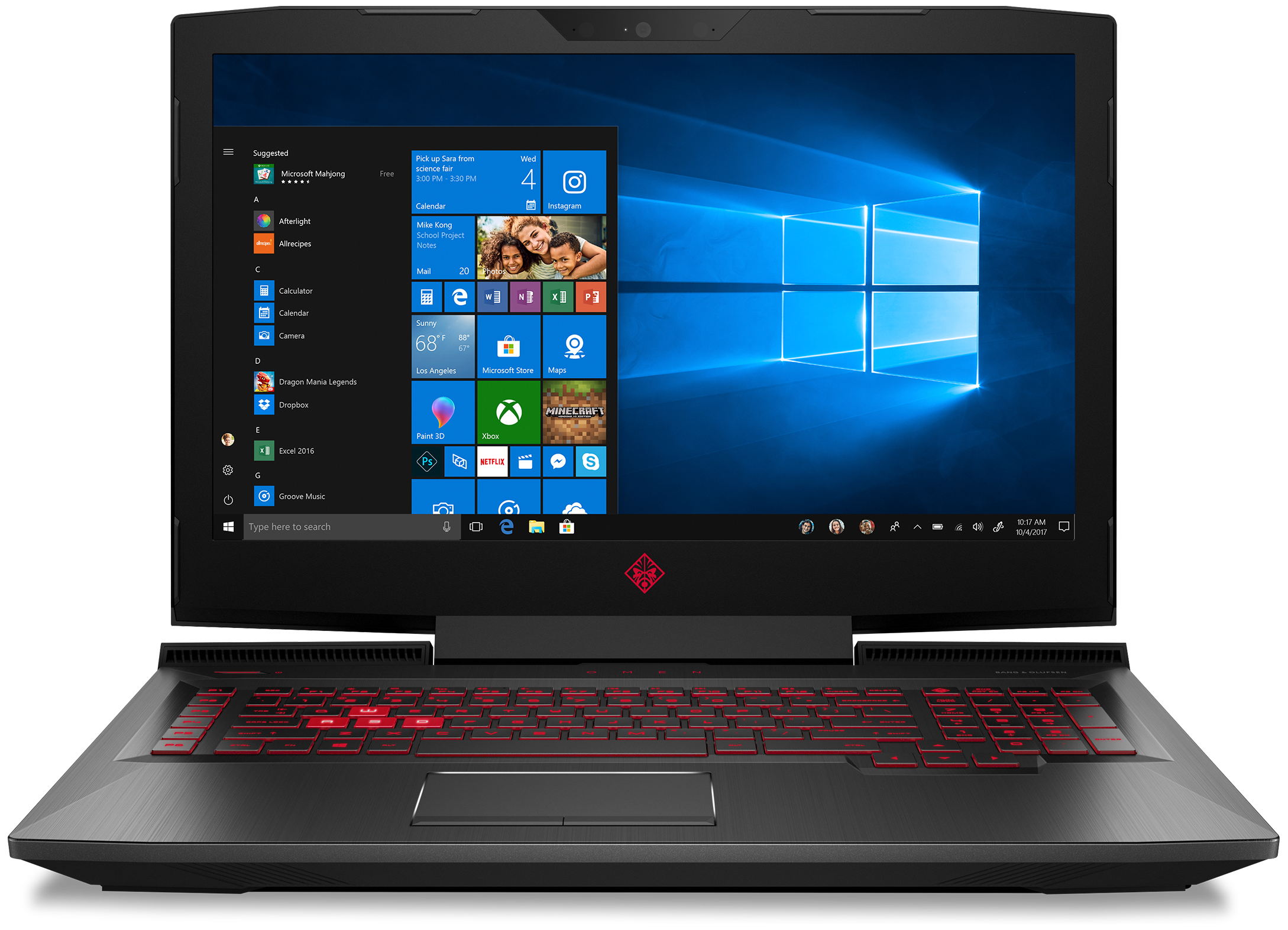 Front view of the HP OMEN Laptop 17