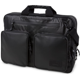 Front view of the HEX Nero Expandable Briefcase