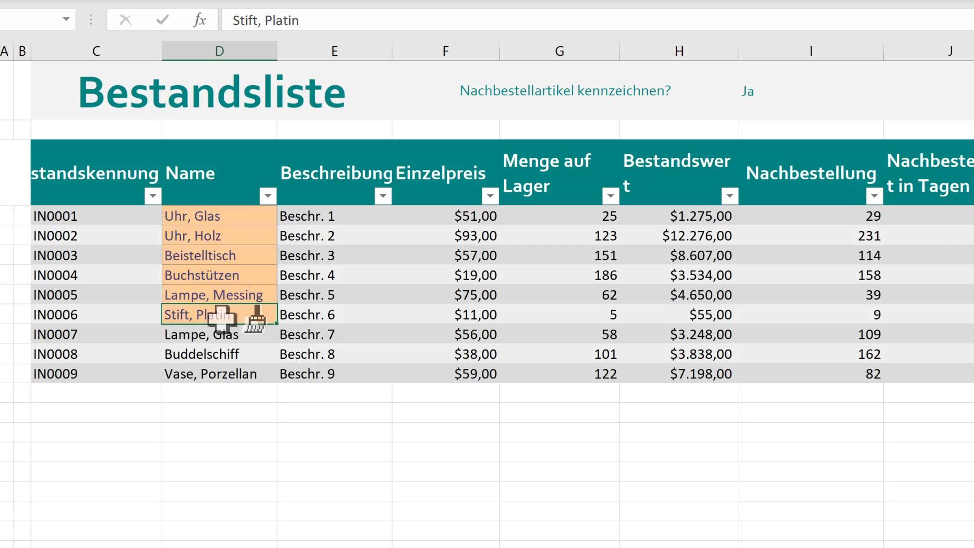 Video: Kopieren der Zellformatierung - Excel