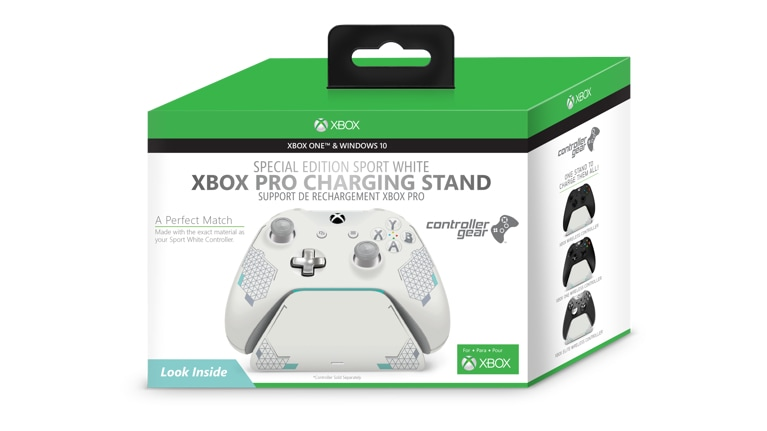 Buy Controller Gear Xbox Pro Charging Stand Sport White Special Edition -  Microsoft Store