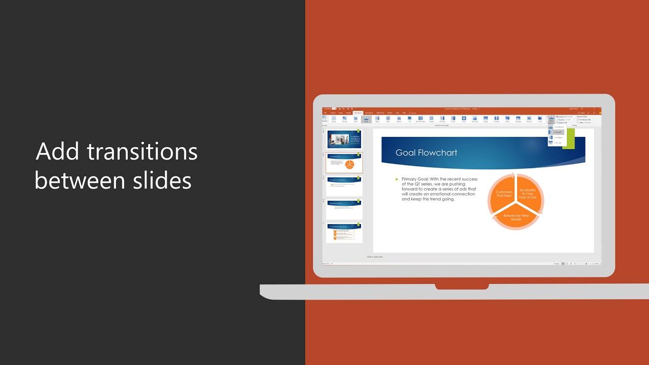 Adicionar Transições Entre Slides Suporte Do Office