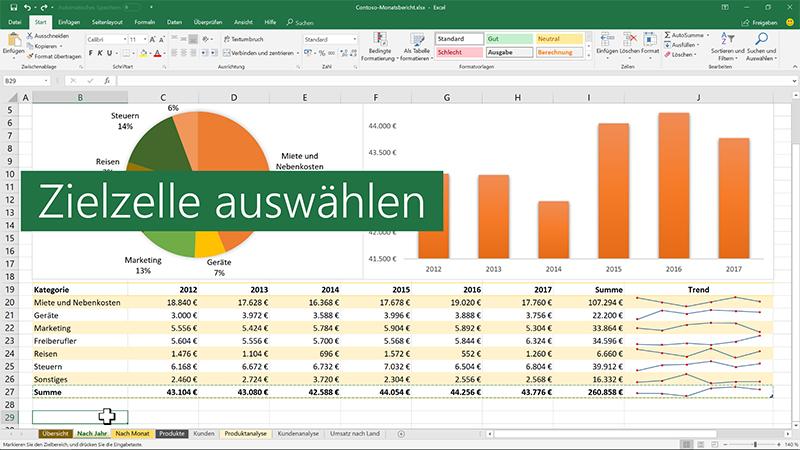 Verschieben oder Kopieren von Zellen und Zellinhalten - Excel