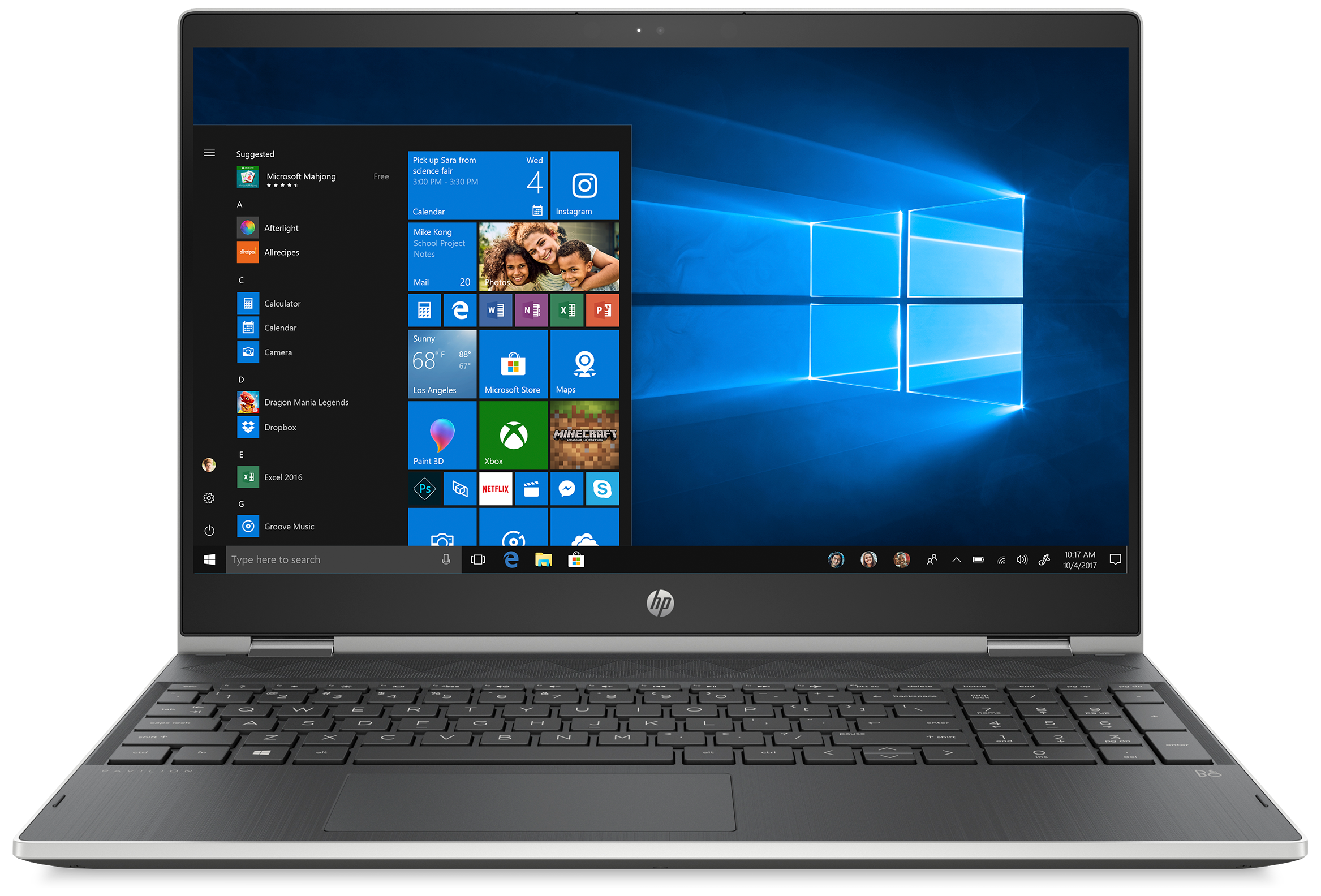 Front view of the HP Pavilion x360