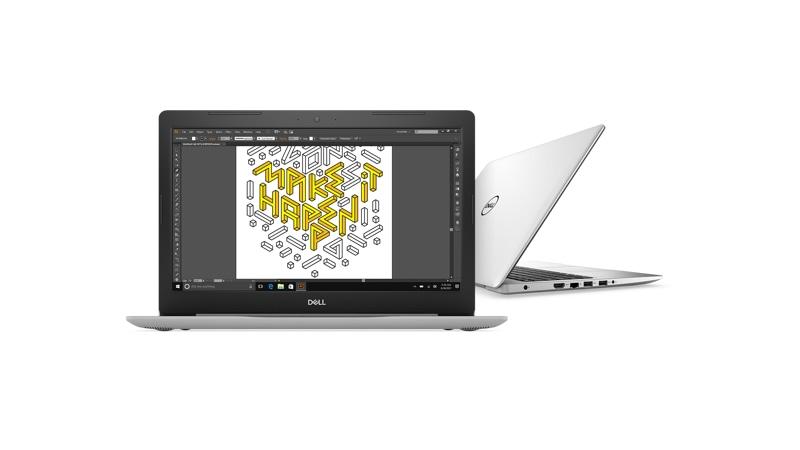 Vista frontal y derecha de la Dell Inspiron 5570