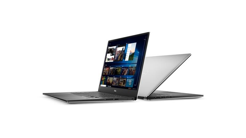 Vista frontal izquierda y posterior derecha de la Dell XPS 9570