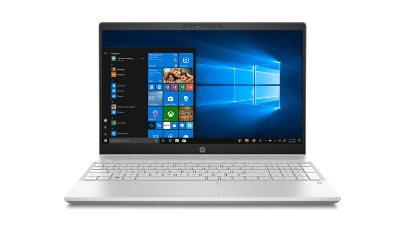 Front view of the HP Pavilion 15