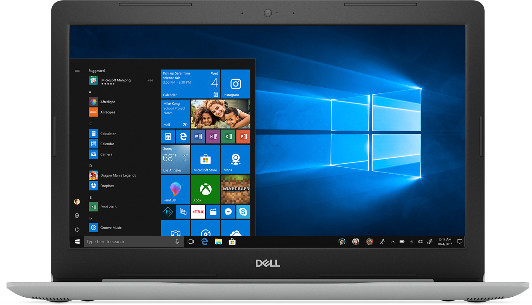 Front view of the Dell Inspiron 5570