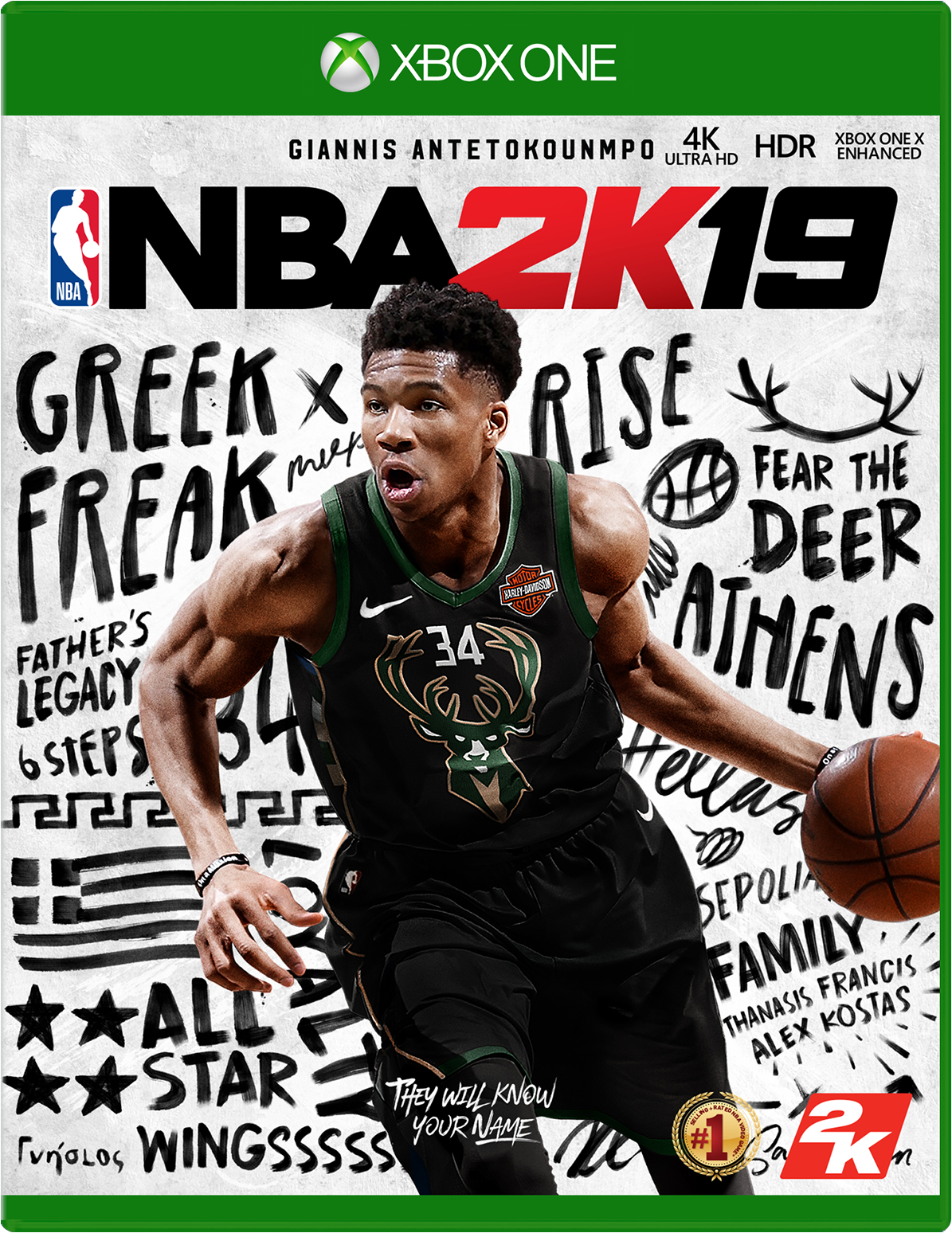 Cover of NBA 2K19 for Xbox One