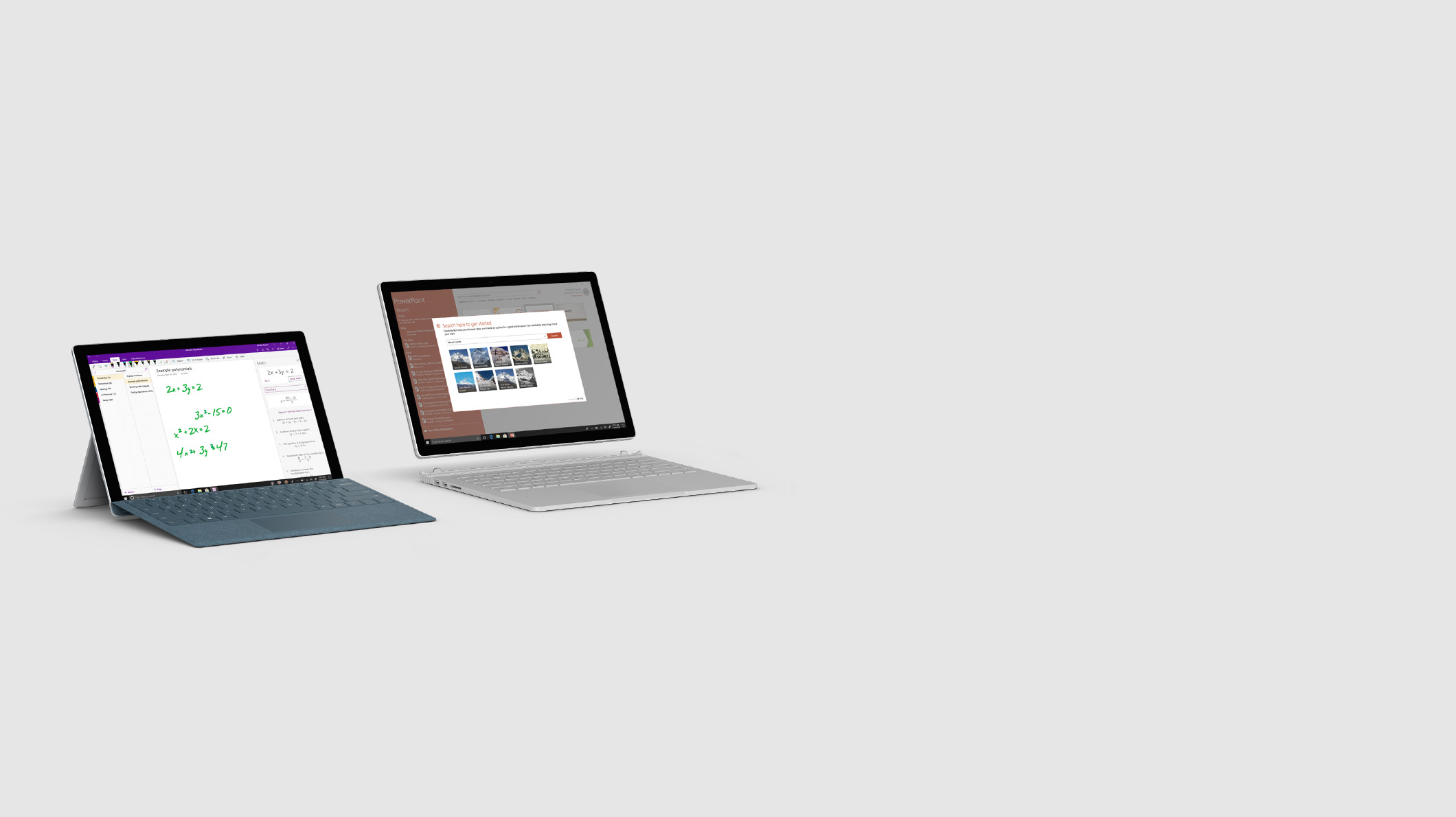 Surface Pro and Surface Book 2