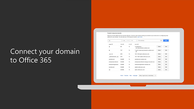 Connect your domain to Office 365