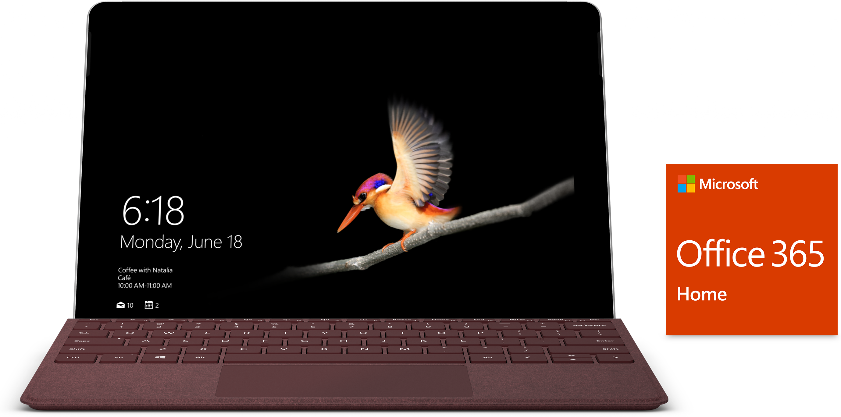 Surface Go, Office, type cover, laptop, tablet