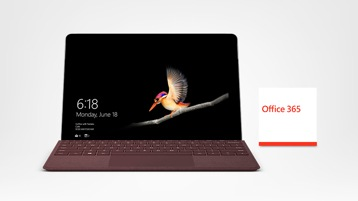 Surface Go met Signature Type Cover en Office 365