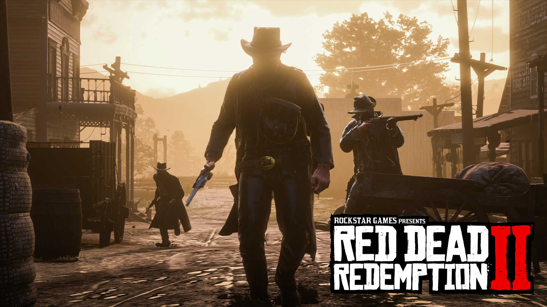 Play  C B Red Dead Redemption  Three Masked Outlaws Walk Through A Western Town With Guns Drawn