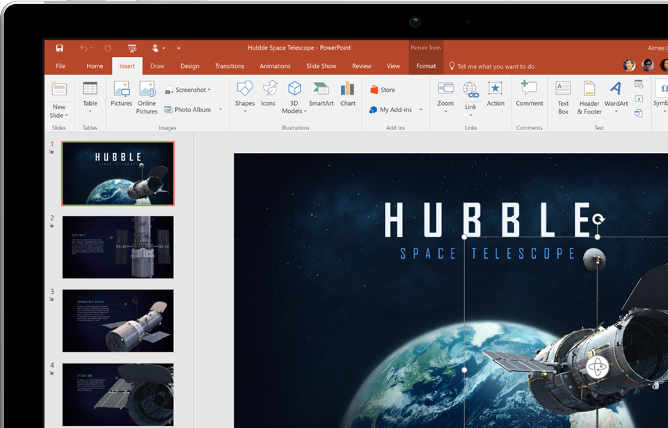 Microsoft Office's excellent presentation tool