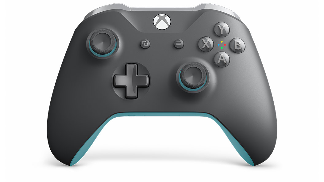 xbox wireless controller grey blue xbox