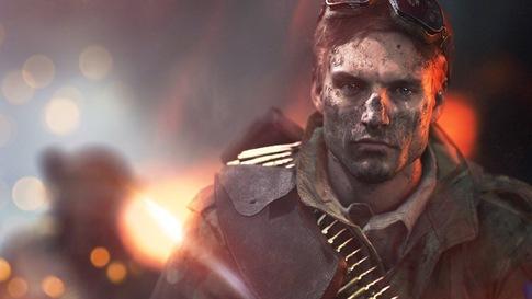Vue de face d'un soldat français boueux