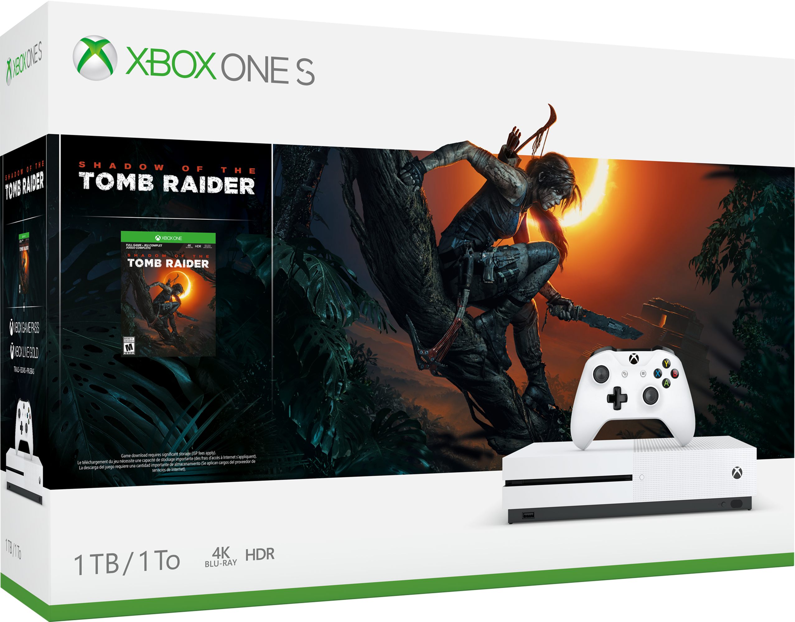 Image of Console Xbox One S da 1 TB - Pacchetto Shadow of the Tomb Raider