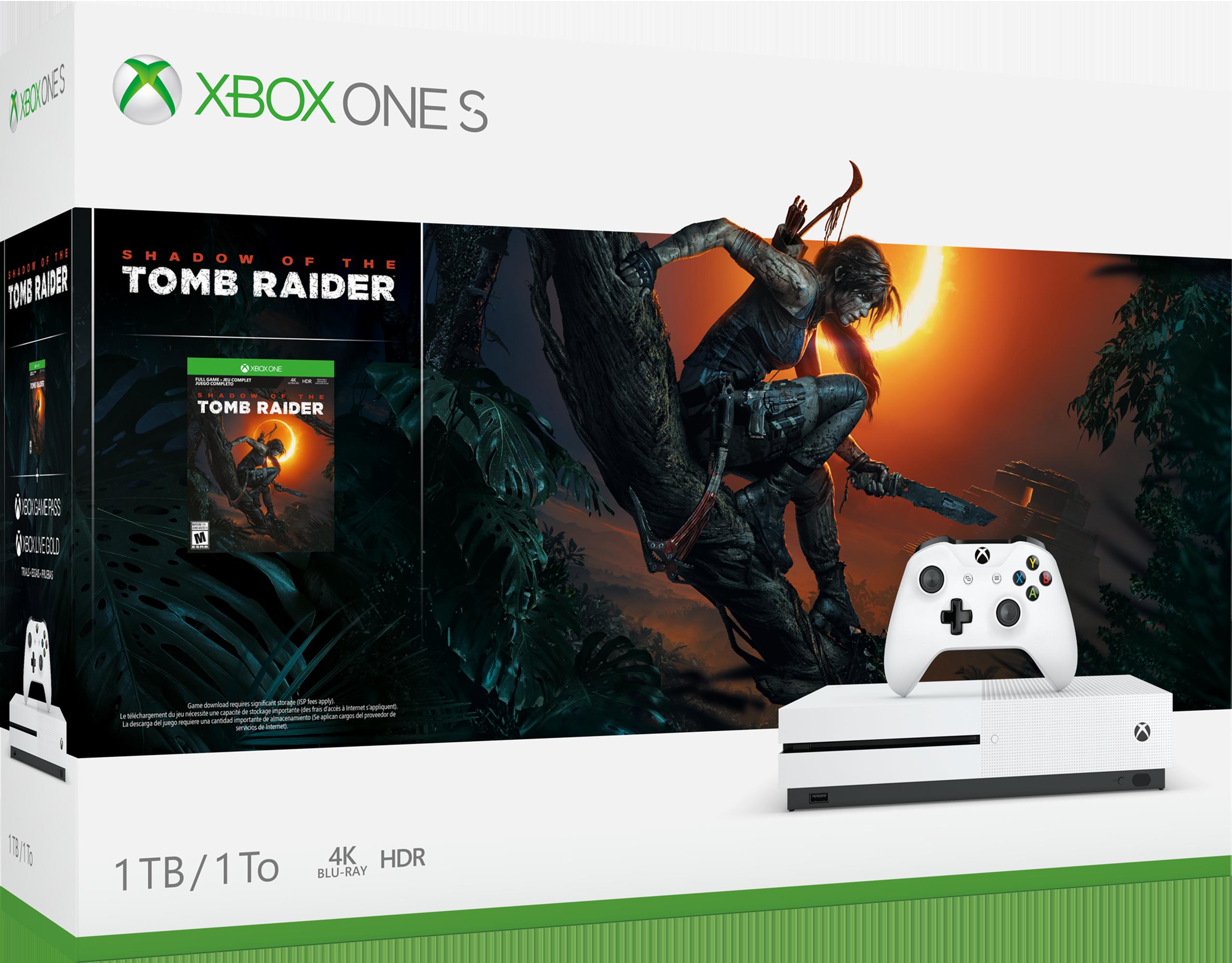 Pack XboxOneS Shadow of the Tomb Raider (1To) – XboxOne