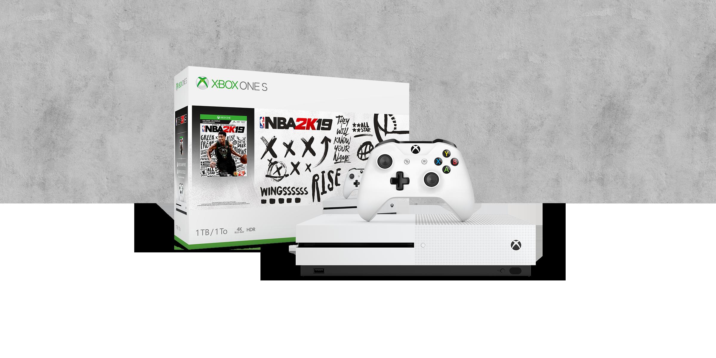 Xbox One S 1TB Console - NBA 2K19 Bundle
