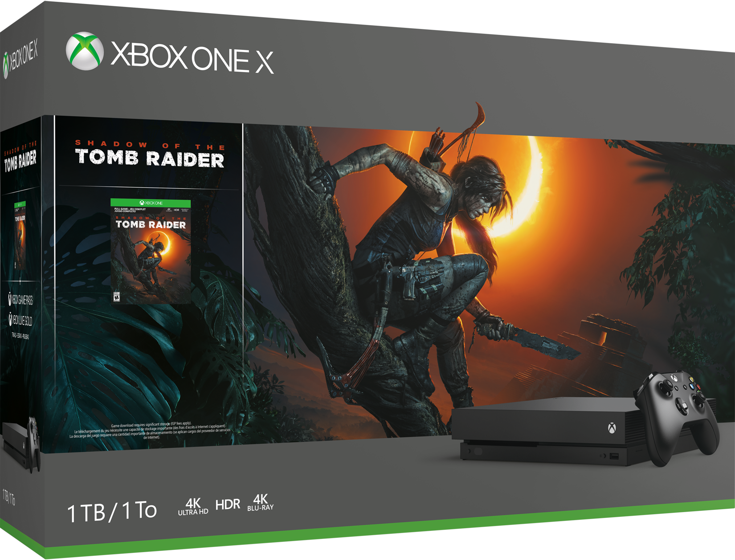 Xbox One X Shadow of the Tomb Raider bundle with a game