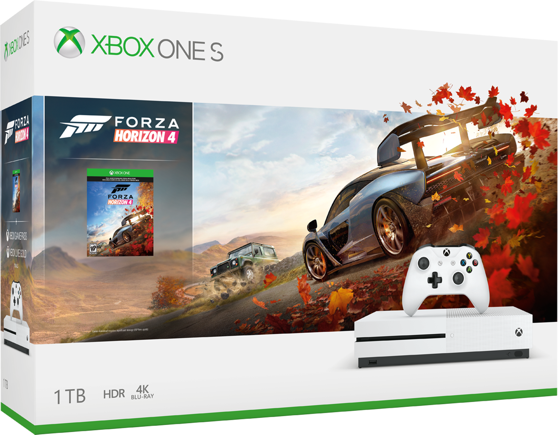 Xbox One S bundle with Forza Horizon 4 and extra game