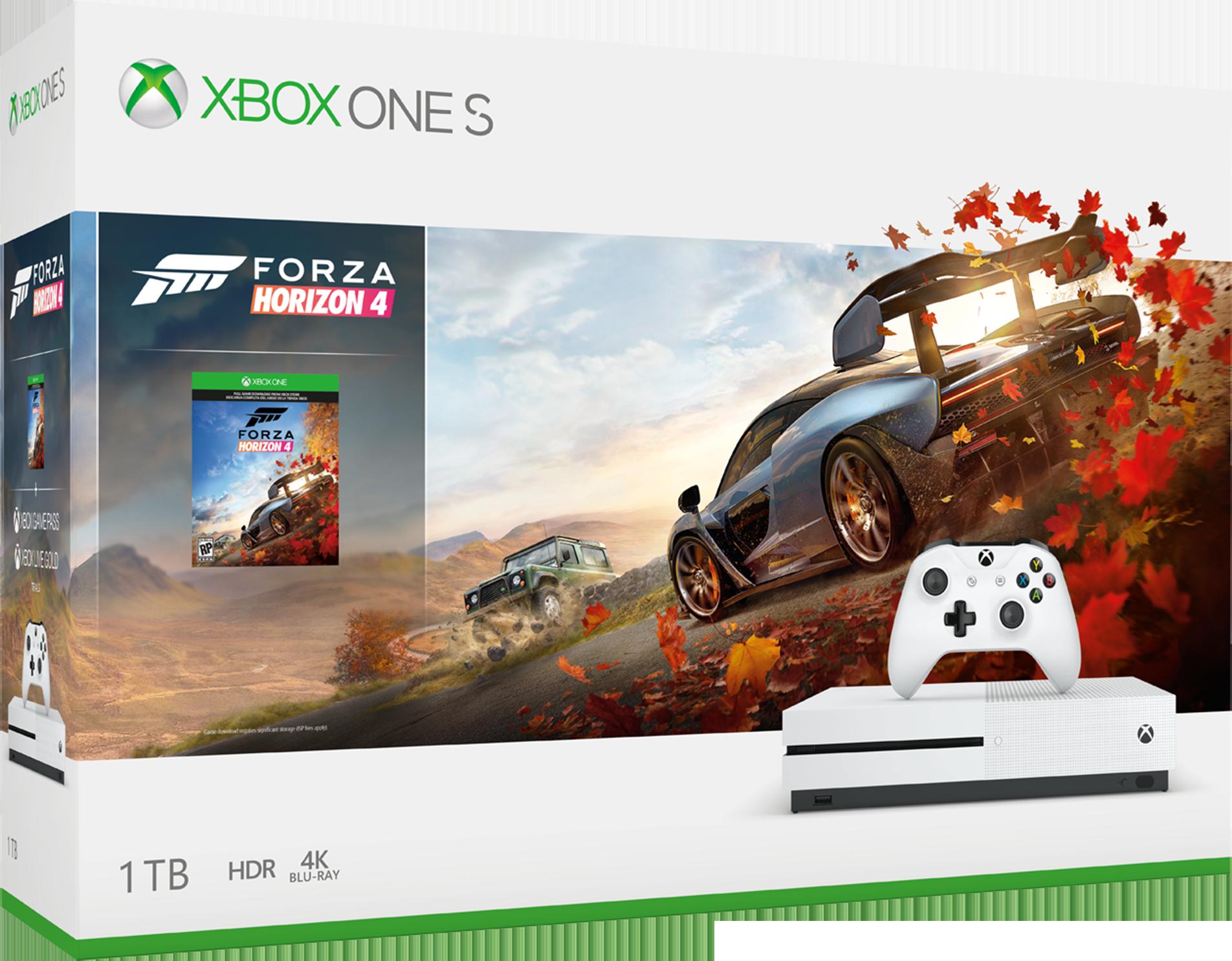 マイクロソフト♪Xbox One S 1 TB 本体 - Forza Horizon 4 同梱版♪32978円♪