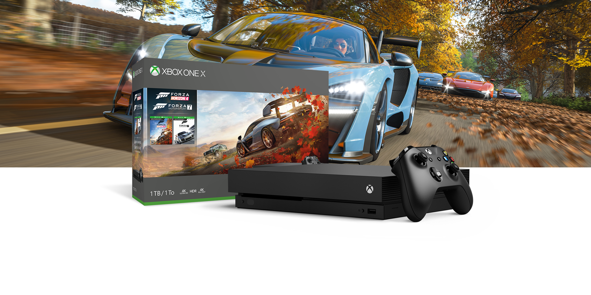 Pack de Xbox One X con Forza horizon 4