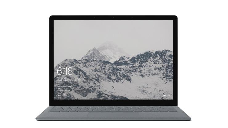 Frontansicht des Surface Laptop
