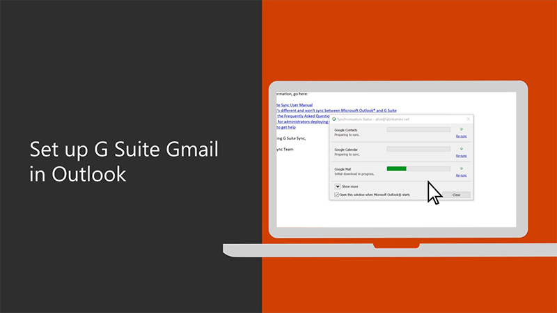 download g suite sync for microsoft outlook