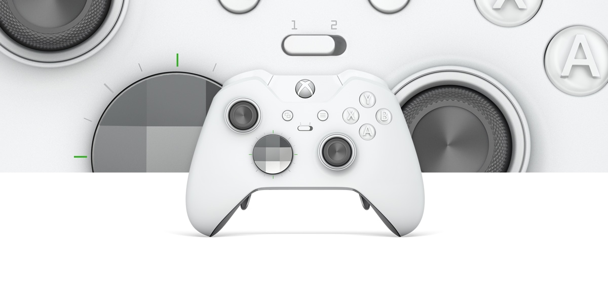 White Xbox One Elite controller