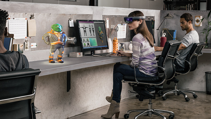 Mixed reality with HoloLens