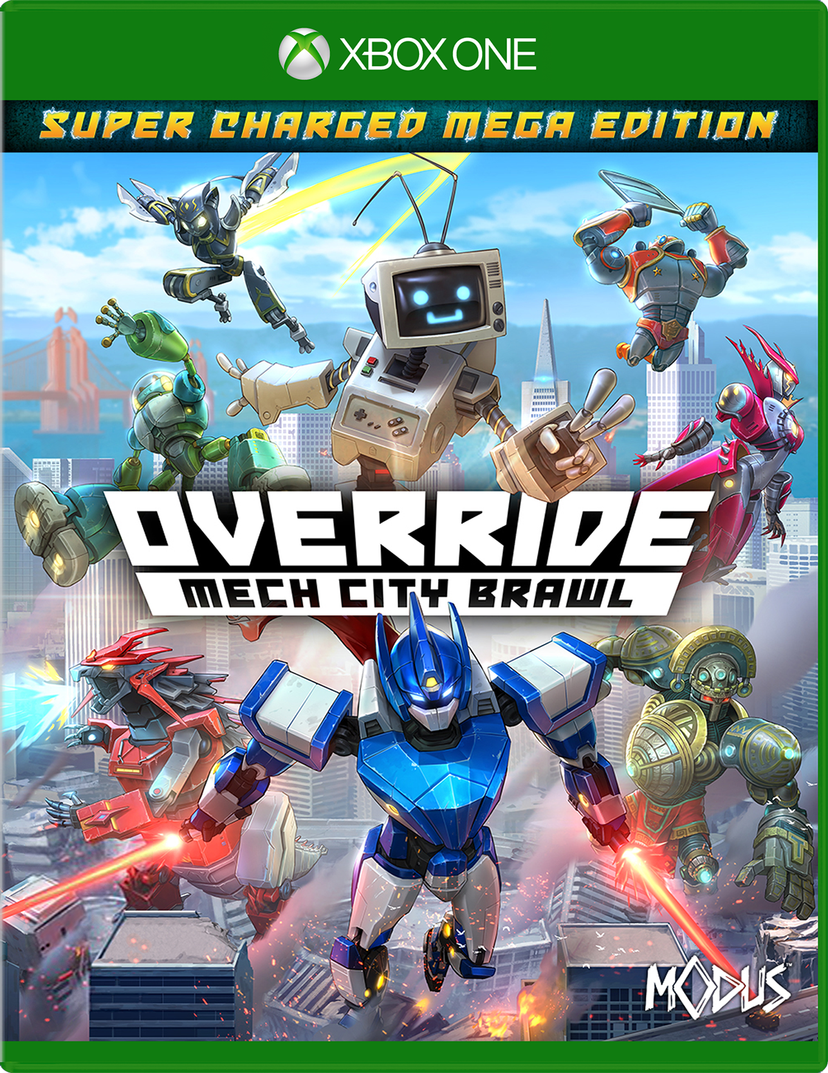Cover of Override Mech City Brawl Super Charged Mega Edition for Xbox One