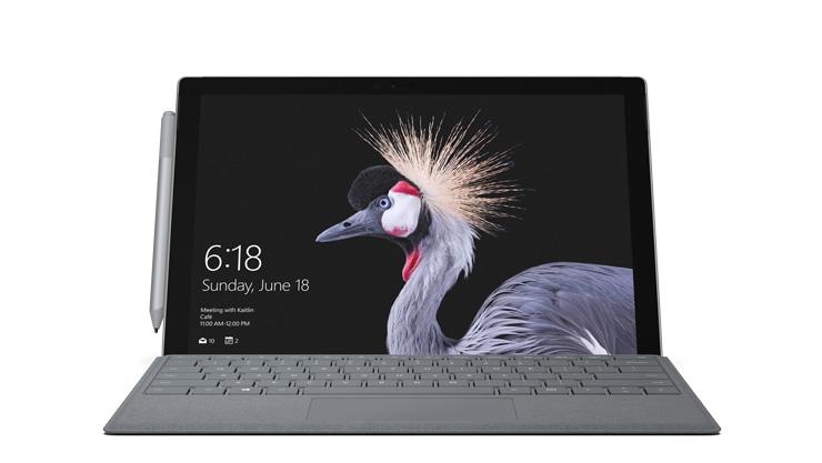 Rendering del dispositivo Surface Pro con LTE Advanced