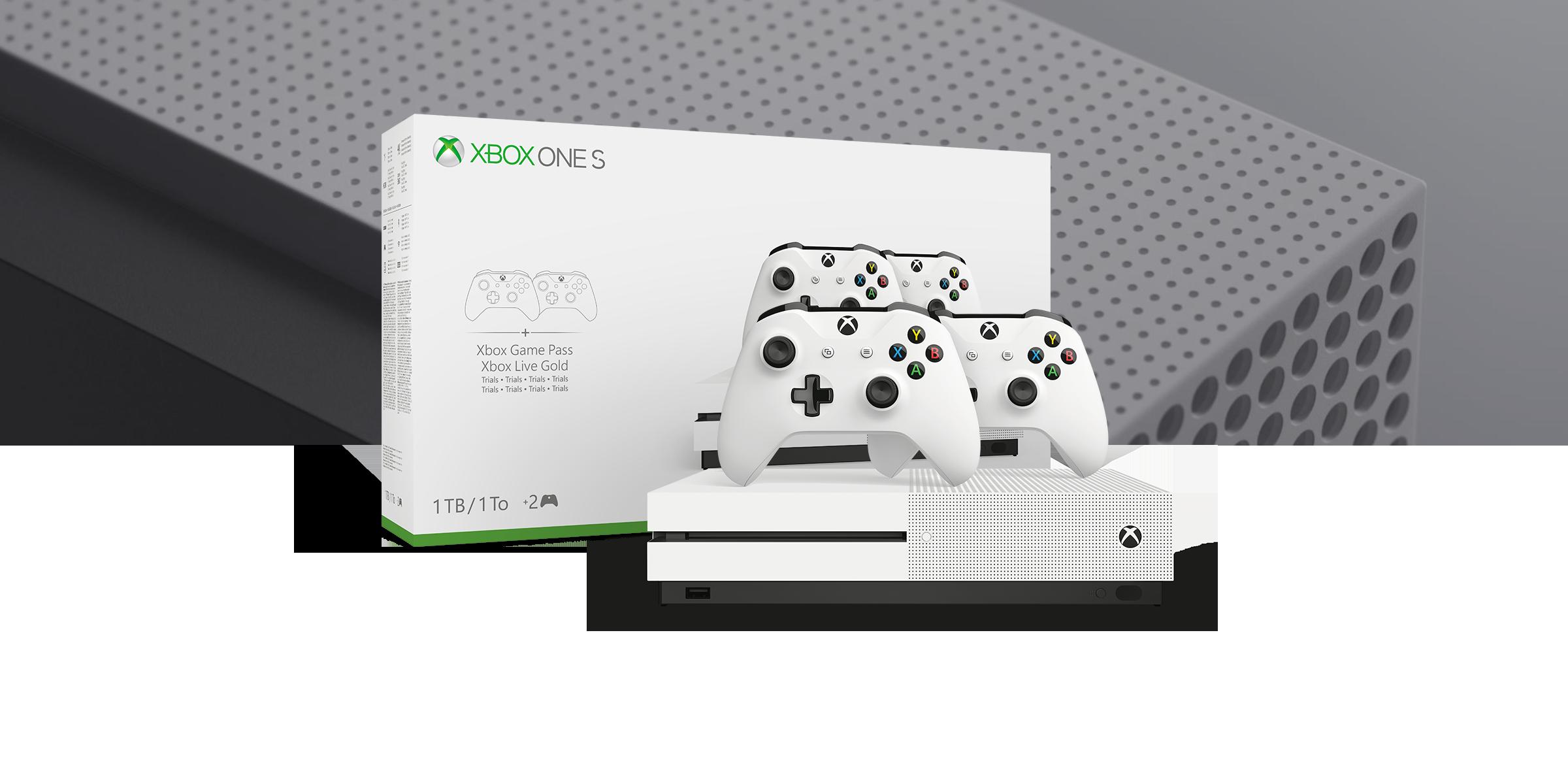 Image of Console Xbox One S 1TB – Pacchetto da due controller