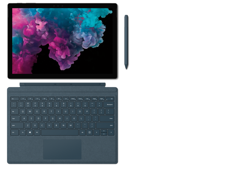 86644c19ff Surfaceタイプカバー、 Surface ペンと Surface Arc Mouse を備えた Surface Pro 6 ...