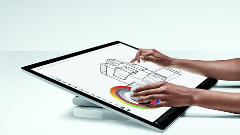 Surface Studio 2 in de studiomodus